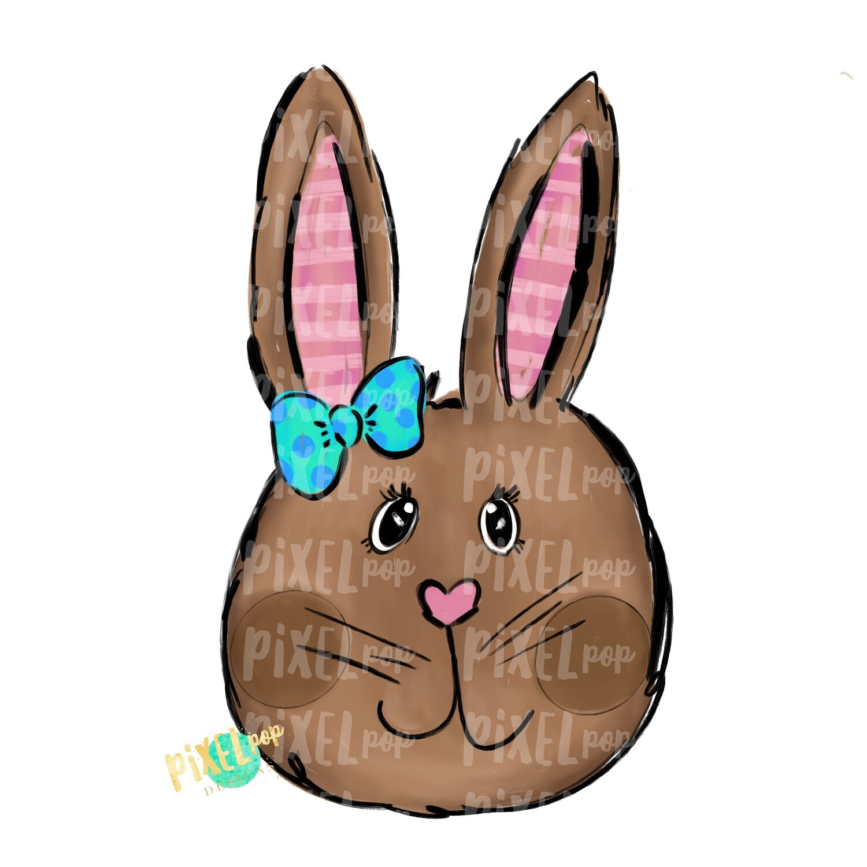 Whimsy Bunny Girl PNG | Easter Bunny | Easter Rabbit | Sublimation Art | Heat Transfer PNG | Digital Download | Printable Artwork | Clip Art
