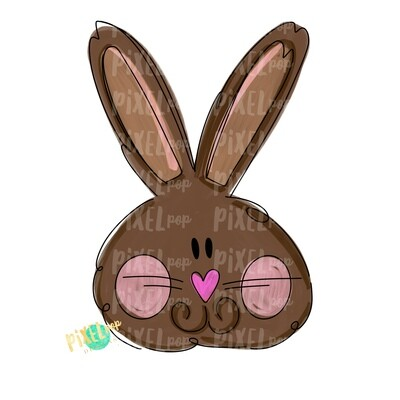 Chocolate Bunny PNG | Easter Bunny | Easter Rabbit | Sublimation Art | Heat Transfer PNG | Digital Download | Printable Artwork | Clip Art