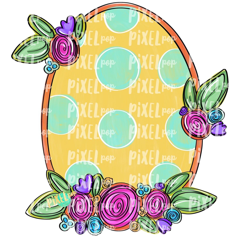 Oval Floral Frame Blank PNG | Flower Frame | Sublimation Design | Flowers on Frame PNG | Digital Download | Printable Art | Digital Art
