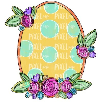 Oval Floral Frame Blank PNG | Flower Frame | Sublimation Design | Flowers on Frame PNG | Digital Download | Printable Art | Digital Art