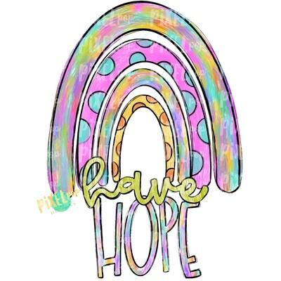 Have Hope Painted Rainbow PNG | Hope Art | Hope Sublimation | Miscarriage Infant Pregnancy | Sublimation | Digital Art | Printable
