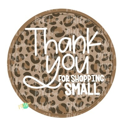 Thank You for Shopping Small Circle Leopard PNG | Business Clip | Small Business Marketing Image | Small Business Sticker Art | Business Art
