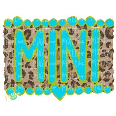 Mini Turquoise and Leopard Print PNG | Sublimation Art | Daughter Design | Painted PNG | Sublimation PNG | Digital Download | Mother's Day