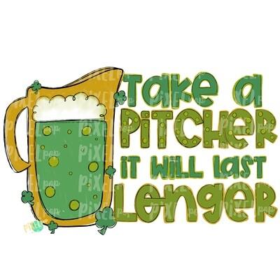 Take A Pitcher Beer PNG | Saint Patrick's Day Art | Four Leaf Clover | Digital Art | Digital Design | St. Patrick's Day Digital Design | Art