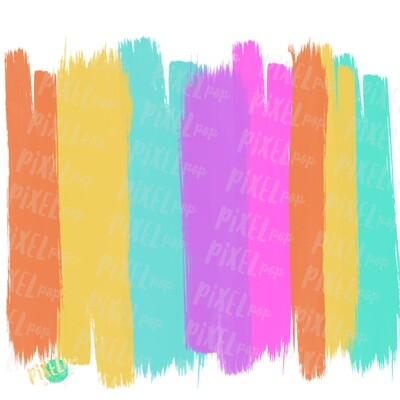 Bright Summer Brush Strokes Background Sublimation PNG | Brush Stroke Background | Digital Background | Brush Strokes | Rainbow | Digital