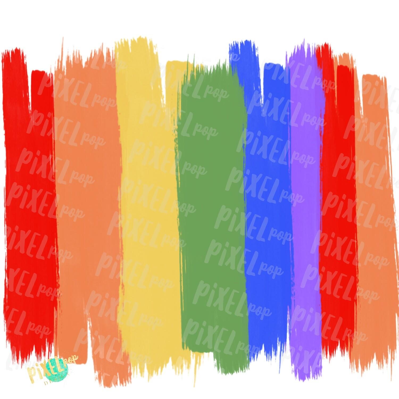 Rainbow Brush Stroke Background PNG | Brush Strokes | Rainbow | Digital Background | Digital Wallpaper | Rainbow Blank Background