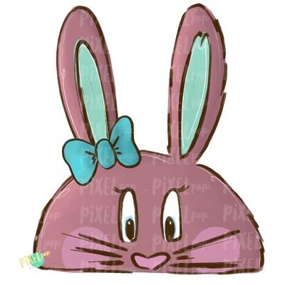 Easter Bunny Girl Digital PNG | Easter Art | Easter Digital | Bunny | Rabbit | Rabbit Digital Design | Bunny Face | Rabbit Sublimation