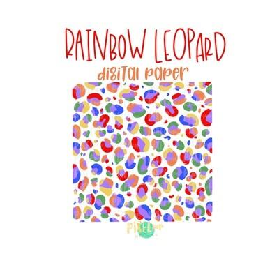 Rainbow Leopard Print Digital Paper PNG | Rainbow Sublimation | Animal Print | Sublimation | Digital Download | Digital Scrapbooking Paper