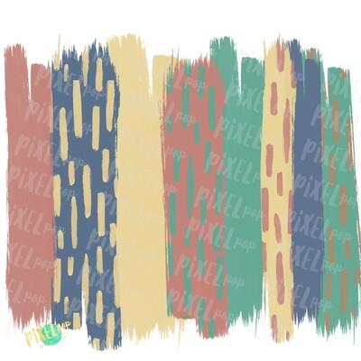 Earth Tones Brush Strokes Background PNG | Brush Stroke Background | Digital Background | Brush Strokes | Earth Tone Rainbow Art | Digital