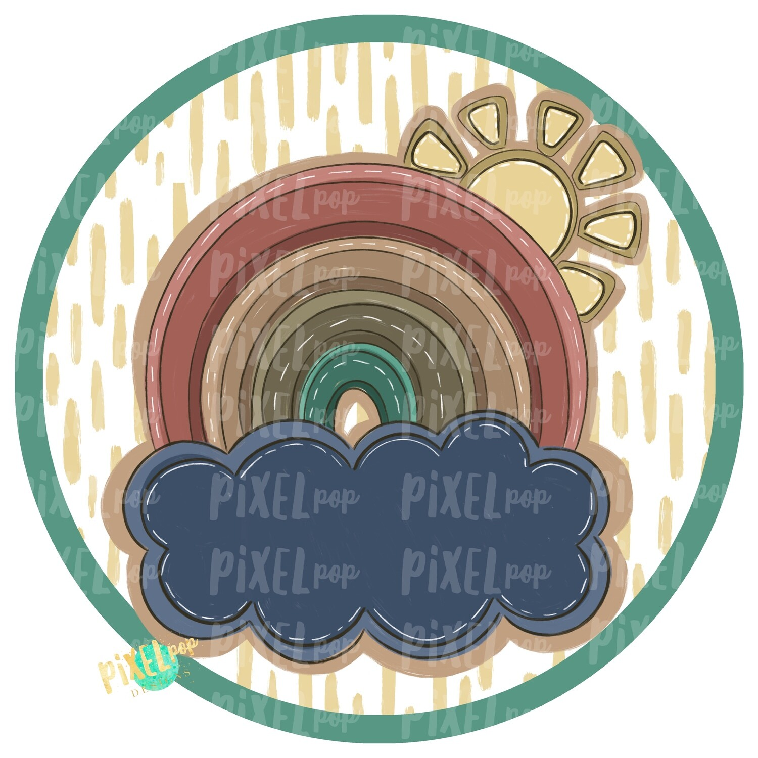 Earth Tone Rainbow Circle PNG   Digital Painting   Sublimation   Miscarriage Infant Pregnancy Loss   Digital   Printable Art   Rainbow PNG