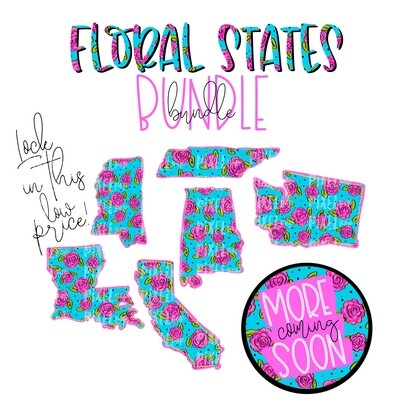 Blank State Shapes FLORAL Bundle - 14 Files (and counting)