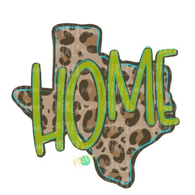 State of Texas HOME Leopard PNG | Texas | Home State | Sublimation Design | Heat Transfer | Digital | Leopard Print