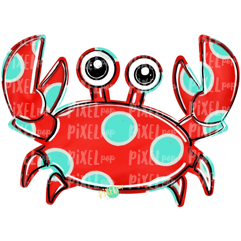 Red Crab PNG | Crab | Coastal Clip Art | Ocean | Crab Art | Sublimation Design | Digital Download | Printable Art | Clip Art