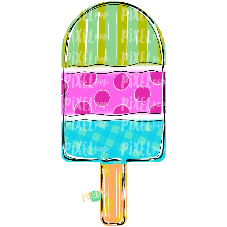 Popsicle Summer Design PNG   Popsicle   Pop Ice   Dessert   Popsicle Painting   Spring Sublimation PNG   Digital   Printable Art   Clip Art