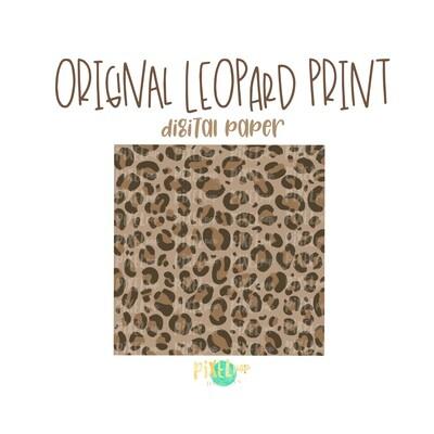 Original Leopard Print Digital Paper PNG | Leopard | Animal Print | Sublimation PNG | Digital Download | Digital Scrapbooking Paper