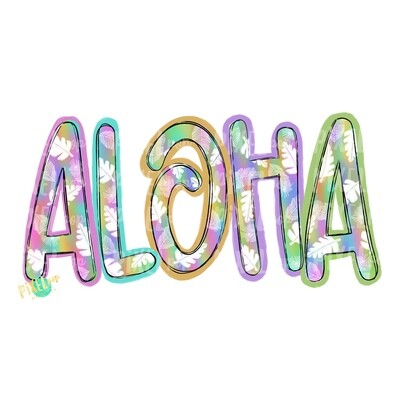 Aloha Bright PNG | Beach Art | Beach Design | Summer | Vacation PNG | Hawaii | Sublimation Design | Heat Transfer PNG | Sea | Digital Art