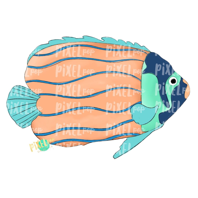 Peach Tropical Fish PNG | Aquarium Fish | Fish Art | Fish Sublimation | Fish Design | Tropical Fish Clip Art | Fish Doodle | Digital Fish Art