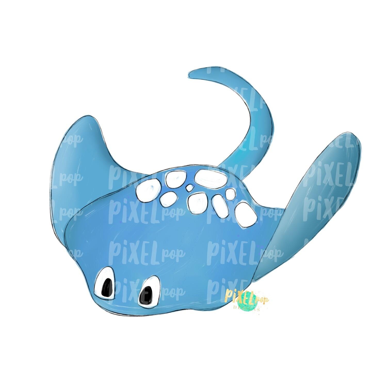 Blue Manta Ray PNG | Manta Ray | Manta Ray Art | Ray Sublimation | Sting Ray Design | Manta Ray Clip Art | Manta Doodle | Digital Manta Art