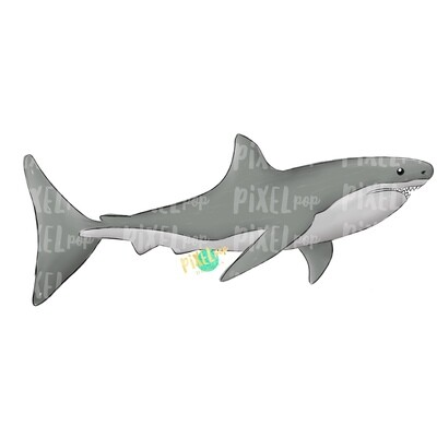 Grey Shark Great White PNG | Shark | Shark Art | Shark Sublimation | Great Shark Design | Shark Clip Art | Shark Doodle | Digital Shark Art