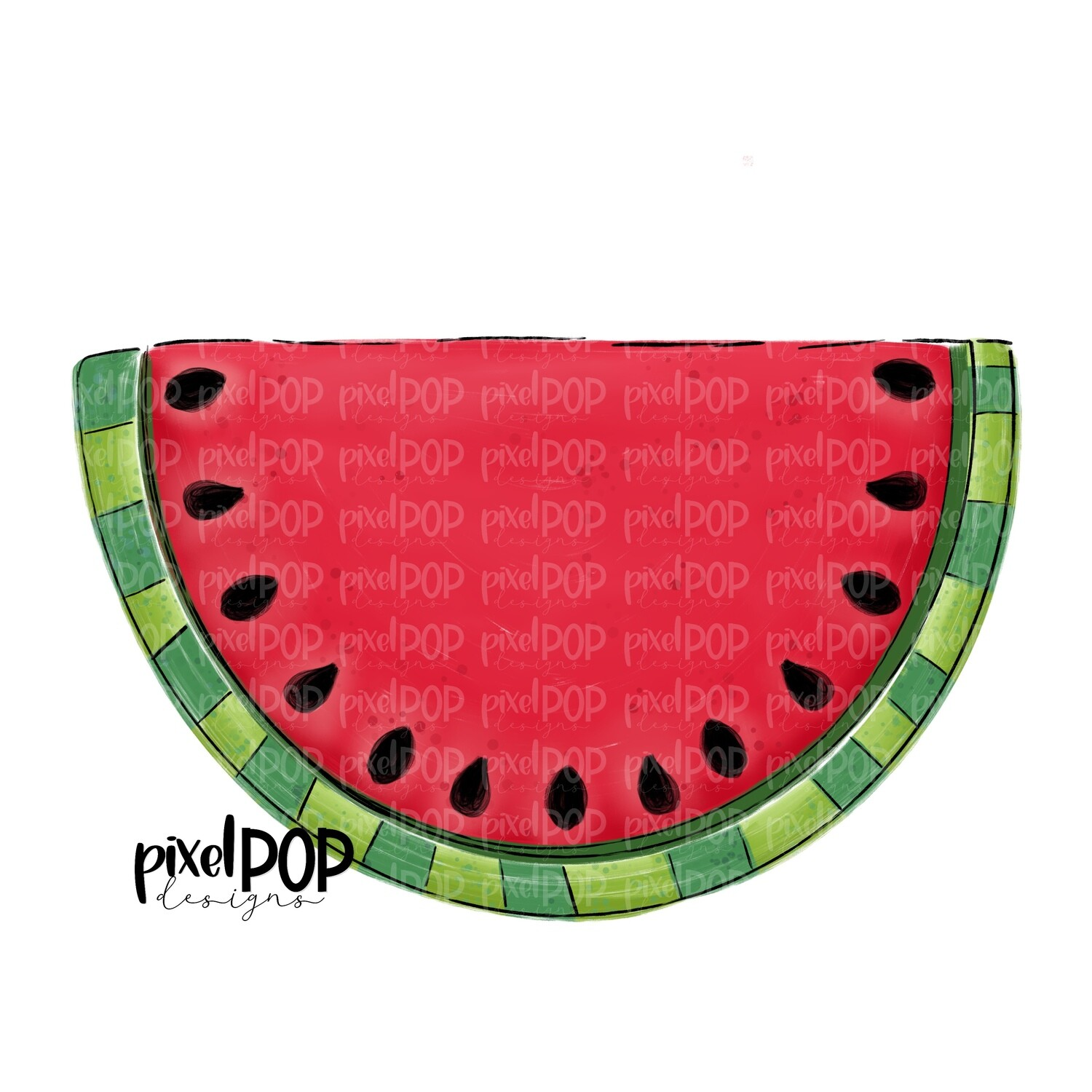 Painted Watermelon PNG Design | Hand Painted Art | Digital | Hand Drawn PNG | Sublimation PNG | Digital Download | Printable Art | Clip Art
