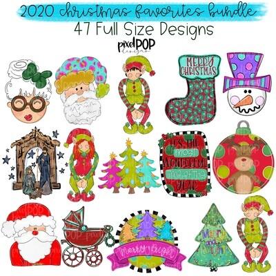 2020 Christmas Favorites Bundle (47 PNG Files)