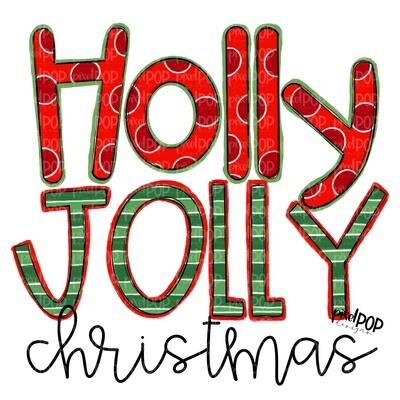 Holly Jolly Christmas PNG   Christmas Design   Holiday Art   Christmas Clip Art   Sublimation   Digital Download   Printable Artwork   Art