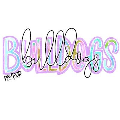 Bulldogs Tie Dye Mascot PNG   Bulldogs Sublimation Design   Team Spirit Design   Bulldogs Clip Art   Digital Download   Printable Artwork