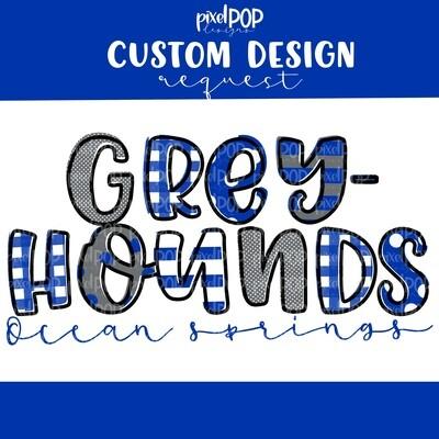 Custom Detailed School Mascot Image Request