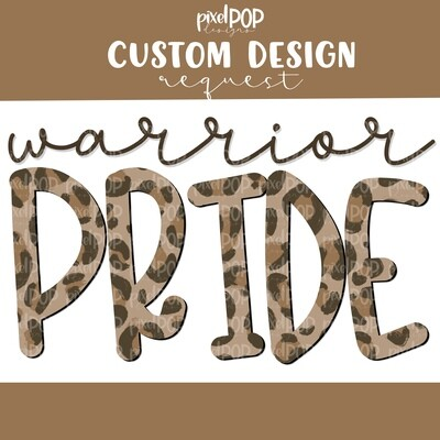 Custom School Mascot Leopard Print Pride Image Request