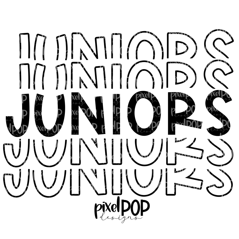 Juniors Five Times Black PNG | Class of | Junior | Juniors | High School | Juniors Sublimation | School Class Design | Junior Digital Art