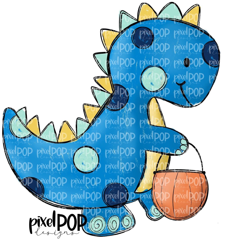 Blue Dinosaur Pumpkin Halloween PNG | Dinosaur | Dino | Dino Sublimation | Halloween | Dino Clip Art | Dino Doodle | Digital Dino Art
