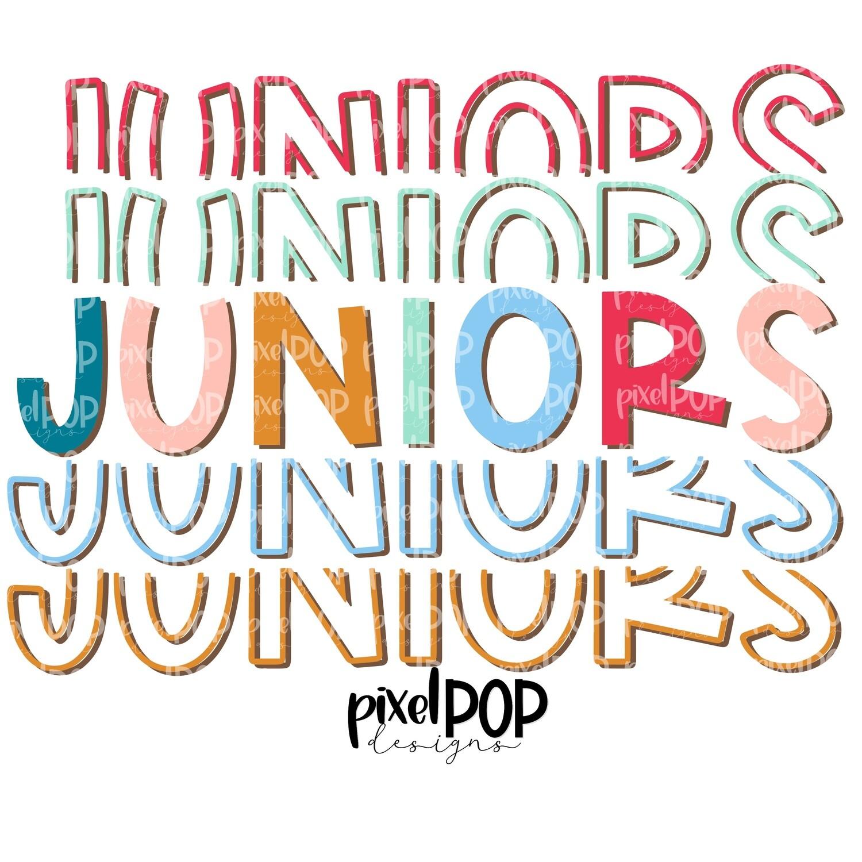 Juniors Five Times Bold PNG   Class of   Junior   Juniors   High School   Juniors Sublimation   School Class Design   Junior Digital Art