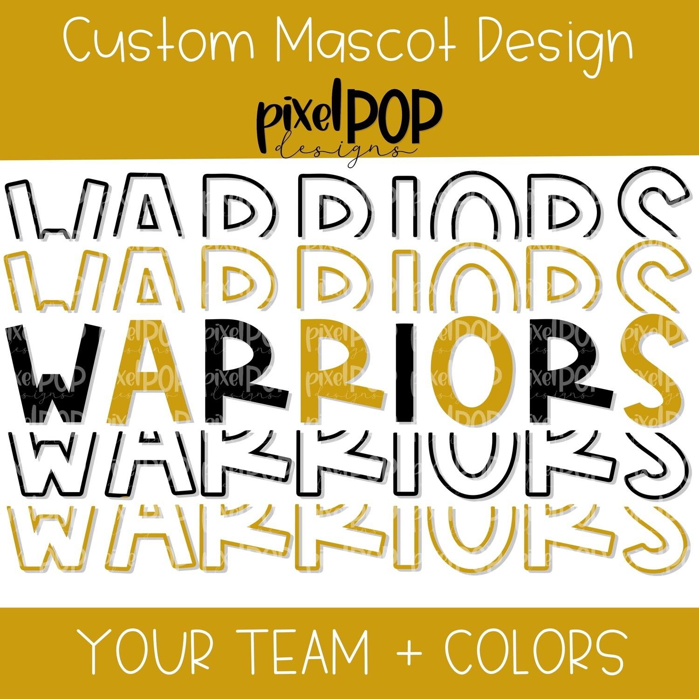 Custom School Mascot x 5 Design