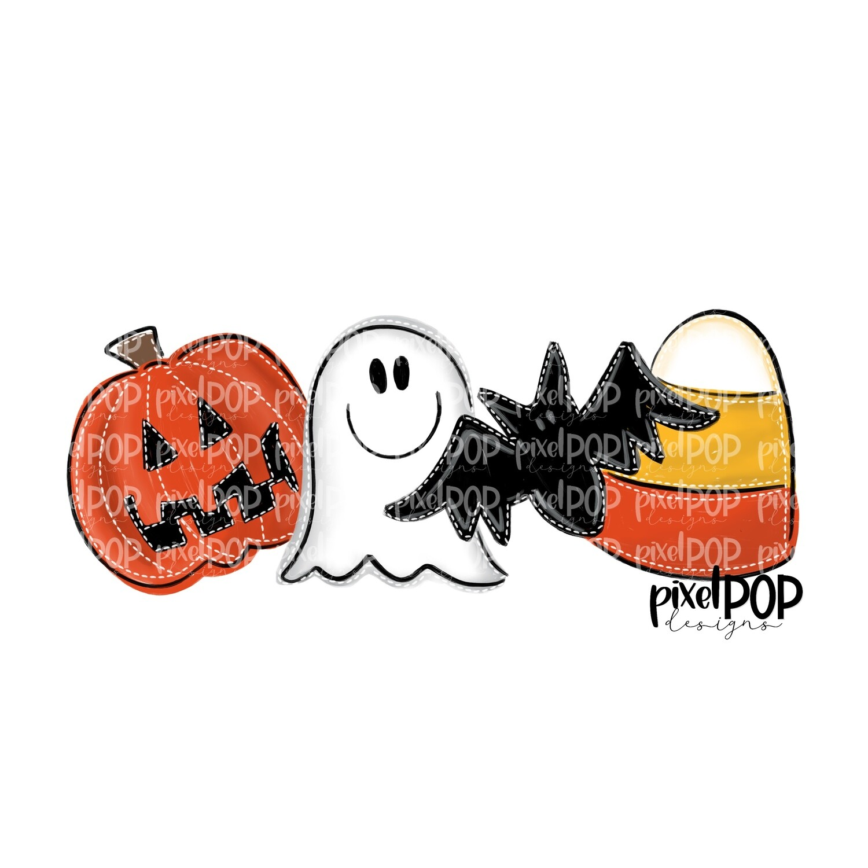 Pumpkin Bat Ghost Candy Corn PNG | Bats | Bat Design | Hand Painted | Bat Art | Halloween Art | Sublimation PNG | Digital Download | Printable Art