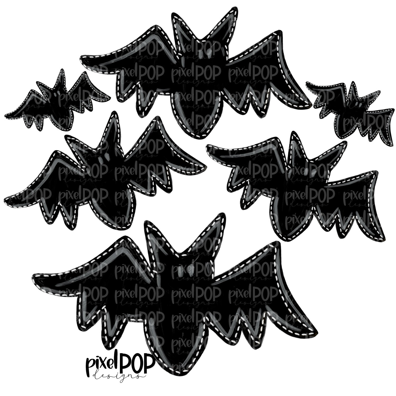 Group of Bats PNG | Bats | Bat Design | Hand Painted | Bat Art | Halloween Art | Sublimation PNG | Digital Download | Printable Art