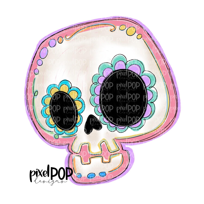 Funky Sugar Skull PNG | Halloween | Skull Art | Skull Design | Skull Sublimation Art | el Día de los Muertos | Day of the Dead | Halloween