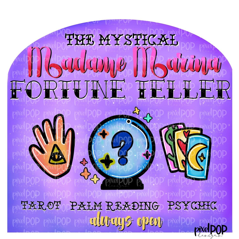 Mystical Fortune Teller Sign PNG   Halloween Design   Psychic Design   Palm Reader Art PNG   Digital Download   Printable Artwork   Art