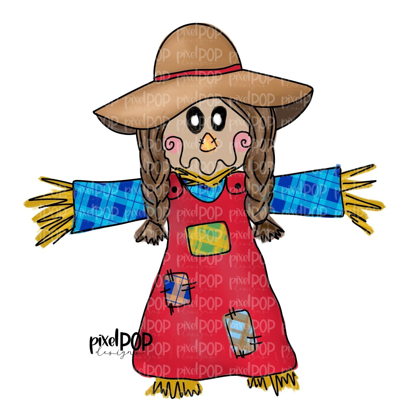 Plaid Scarecrow Girl PNG | Fall Art | Scarecrow Art | Sublimation Design | Sublimation PNG | Digital Download | Printable Artwork | Art