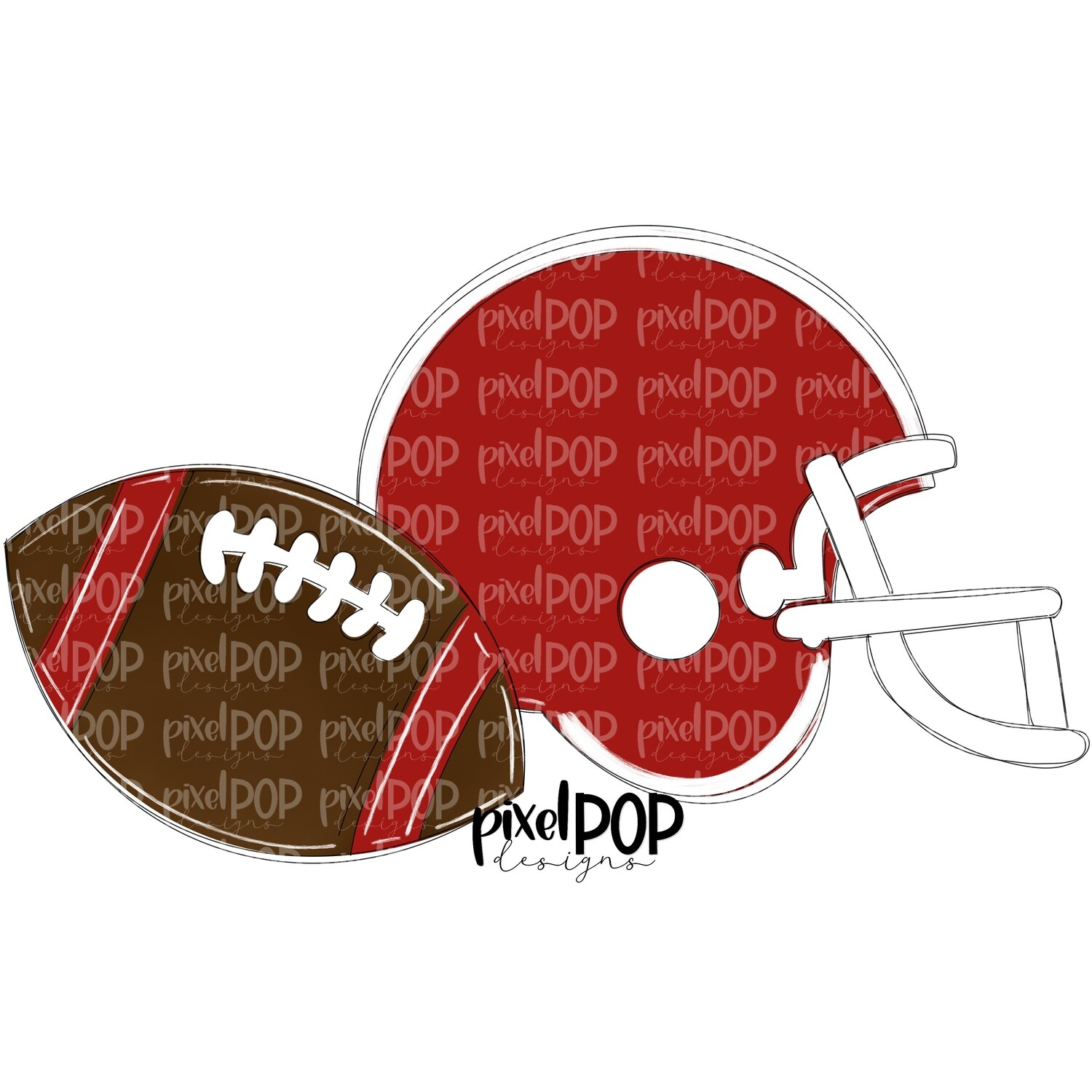 Football and Helmet Dark Red and White PNG   Football   Football Design   Football Art   Football Blank   Sports Art