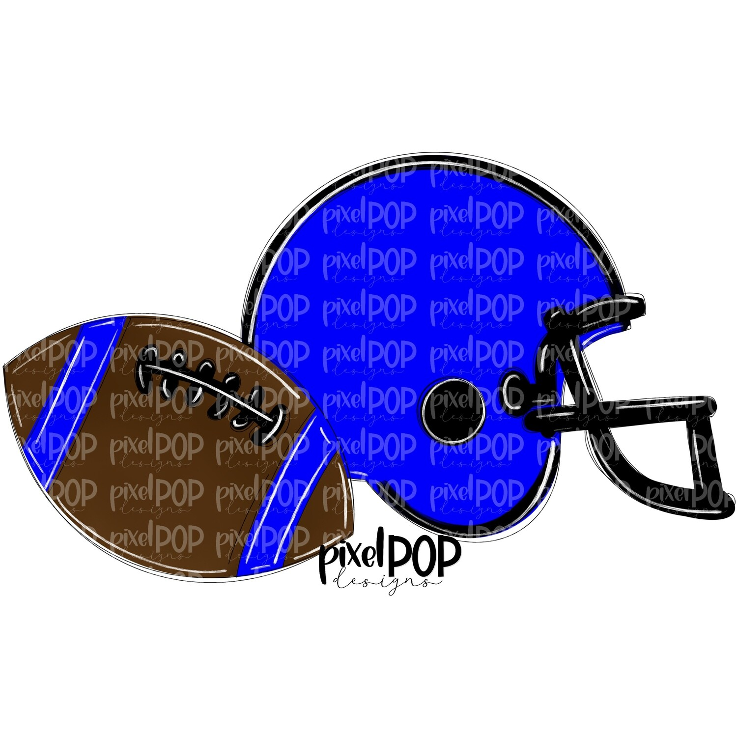 Football and Helmet Blue and Black PNG | Football | Football Design | Football Art | Football Blank | Sports Art