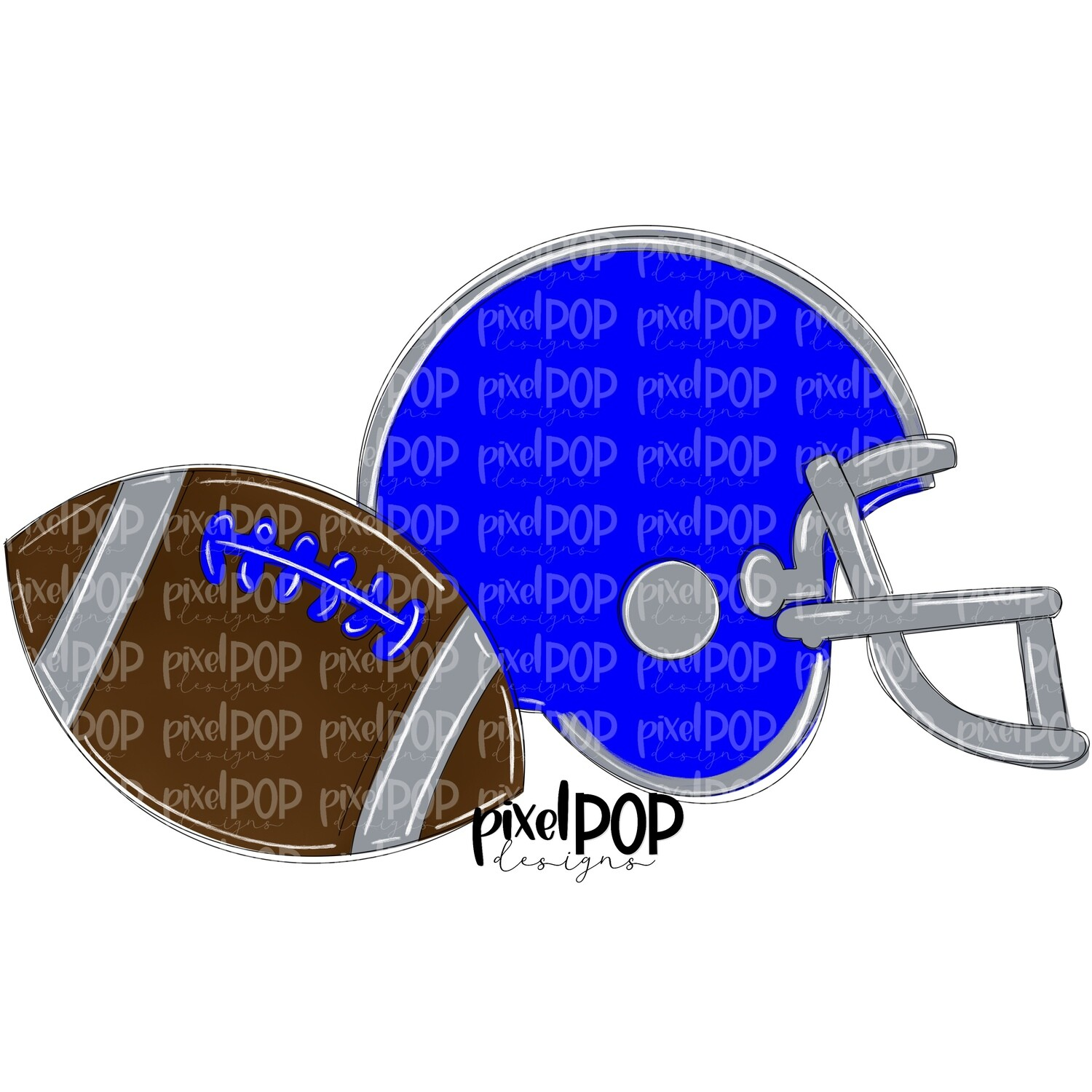 Football and Helmet Blue and Grey Silver PNG   Football   Football Design   Football Art   Football Blank   Sports Art