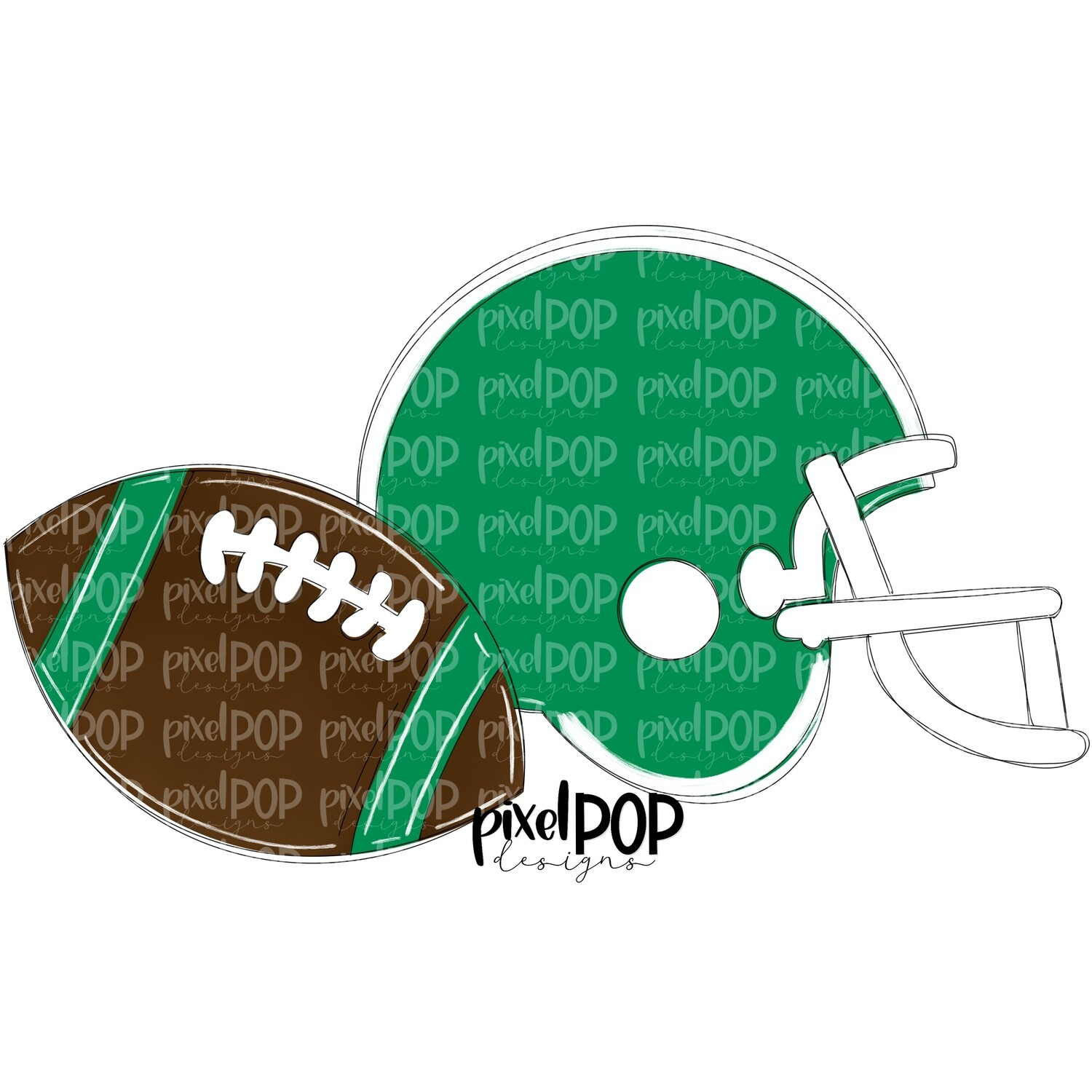 Football and Helmet Green and White PNG   Football   Football Design   Football Art   Football Blank   Sports Art