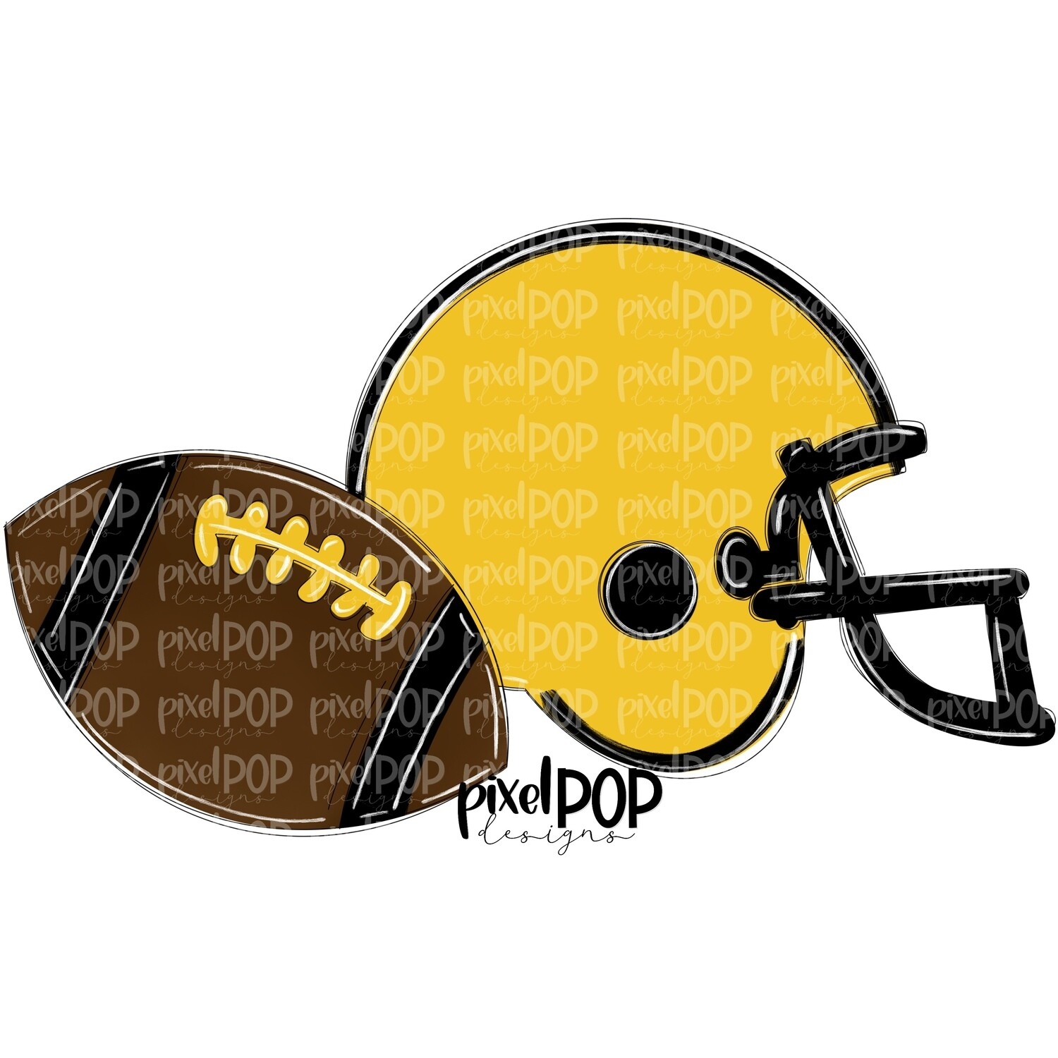 Football and Helmet Yellow and Black PNG   Football   Football Design   Football Art   Football Blank   Sports Art