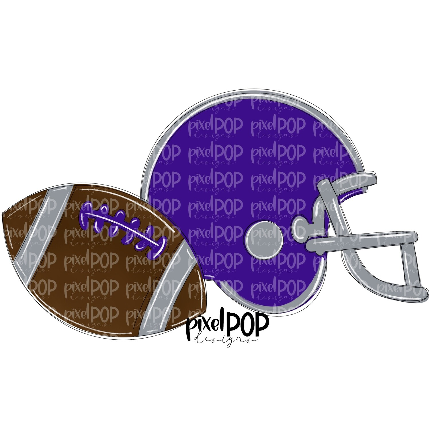 Football and Helmet Purple and Grey PNG | Football | Football Design | Football Art | Football Blank | Sports Art