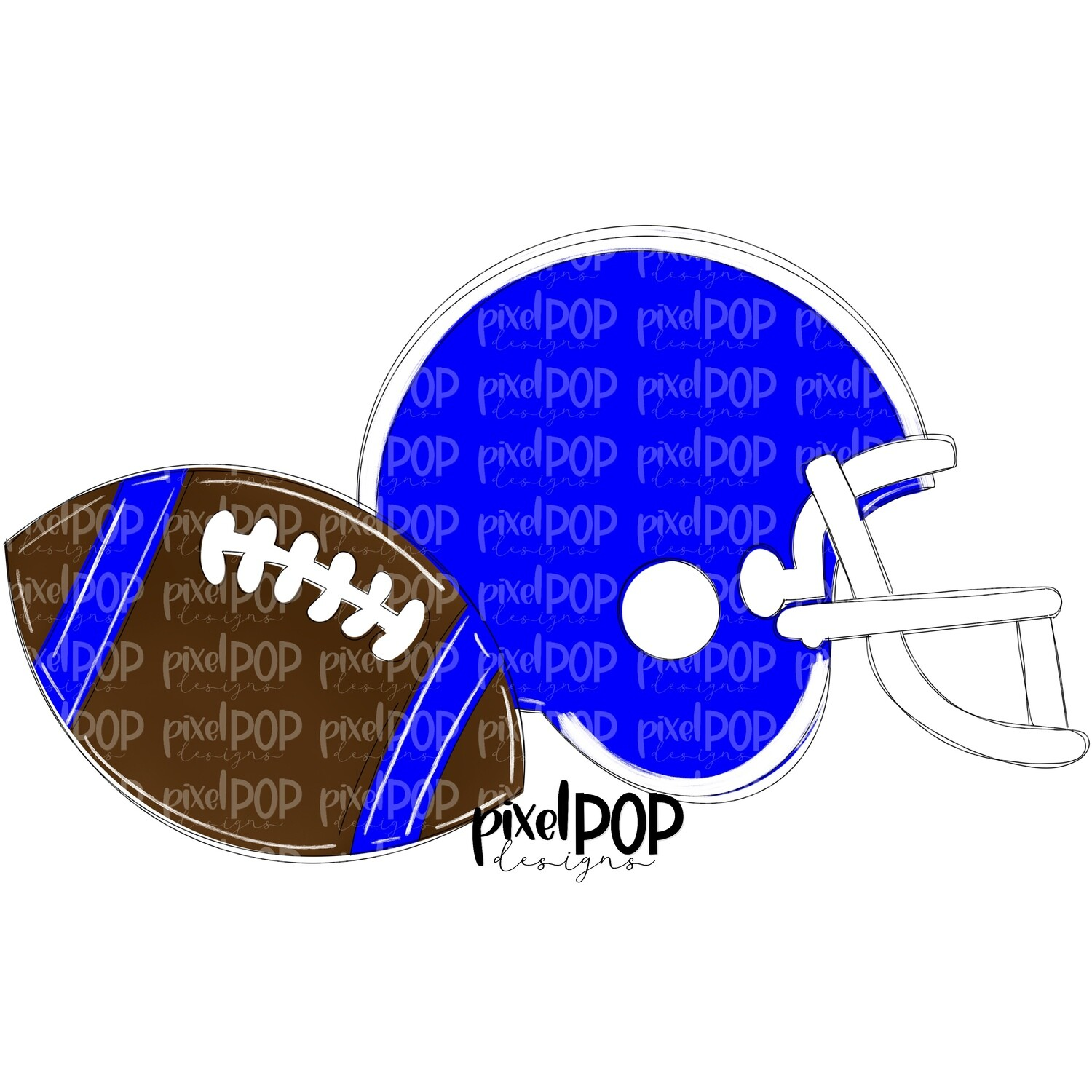 Football and Helmet Blue and White PNG | Football | Football Design | Football Art | Football Blank | Sports Art