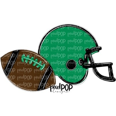 Football and Helmet Green and Black PNG   Football   Football Design   Football Art   Football Blank   Sports Art