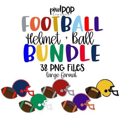 Football and Helmet Bundle - 38 PNGs