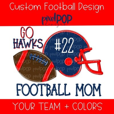 Custom School Football (WITH NUMBER) Image Request