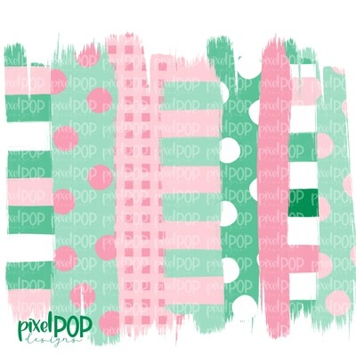 Light Pink and Green Stripe Polka Dot Brush Stroke Background PNG   Pastel Boy Colors   Transfer   Digital Print   Printable   Clip Art