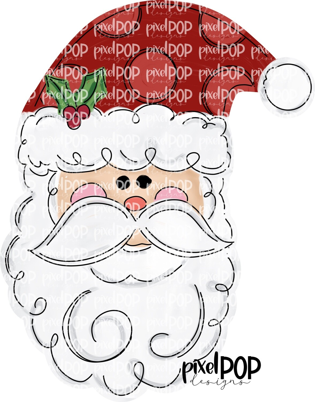 Santa Claus PNG   Christmas Art   Santa   Santa Clip Art   Santa Claus   Christmas   Digital Download   Printable Artwork   Art